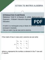1.Introduction to Matrix Algebra