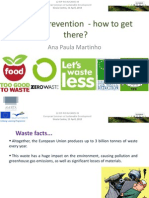 Waste Prevention How to Get There Ana Paula Martinho