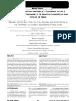 Remoção de matéria orgânica, coliformes totais e nitrificação no tratamento de esgotos domésticos por filtros de areia