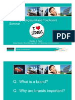 Branding Background and Touchpoint Seminar