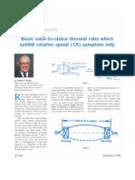 Basic Rotor to Stator Thermal Rubs 1X Symptom Only