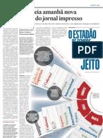 Estado estreia nova organização do jornal impresso