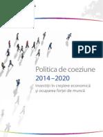 Politica de Coeziune UE 2014 - 2020