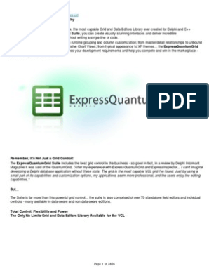 Express Quantum Grid   Page Layout   Database Index