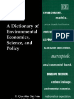 A dictionary of environmental economics science and policy