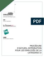 PROCÉDURE D'ACCUEIL INTÉGRATION POUR LES EMPLOYÉS DE LA CAT IV - Version finale.pdf