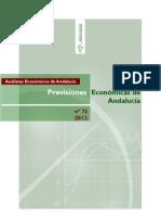 Previsiones Económicas de Andalucía. nº 72