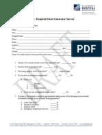 Hospital Diesel Generator Survey