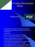 Baumols-Sales-Maximisation-Model