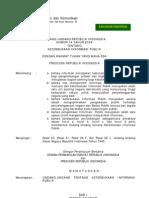 UU No. 14 - 2008 tentang Kebebasan Informasi Publik
