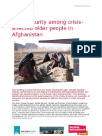 Food security among crisis-affected older people in Afghanistan
