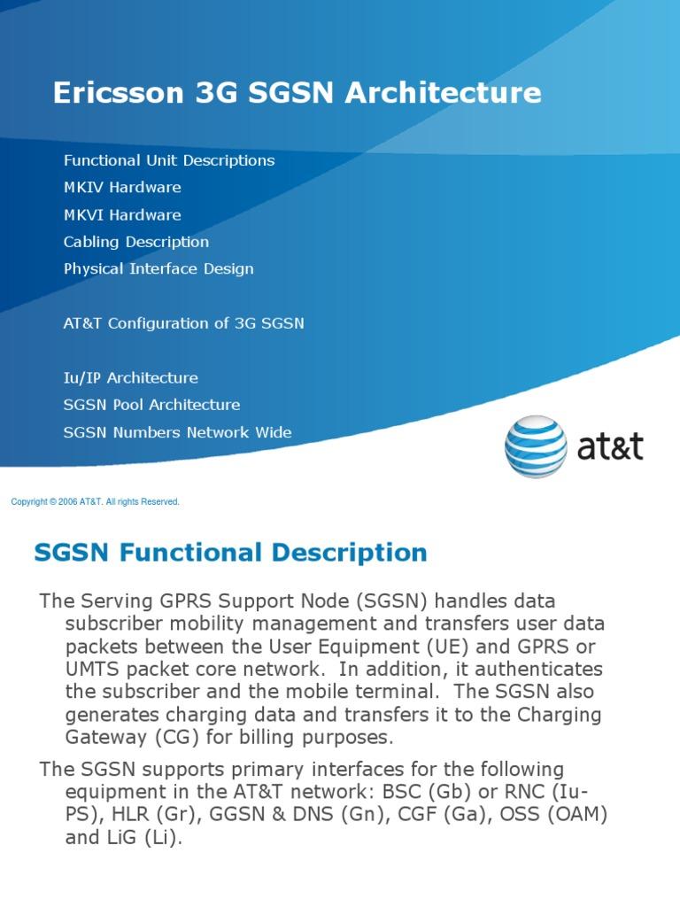 Ericsson SGSN Architecture Overview v1 5-14-2010 | Communications