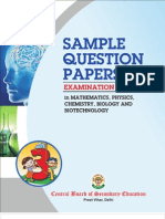 Sample Science Papers for class XII cbse