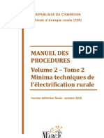 Cameroun Fer Manuel Procedures Vol 2 Tome 2 Minima Techniques