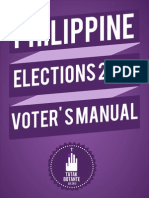 Philippine Elections 2013 Voter's Manual