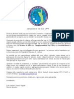 Carta de Auspicio- 1er Clásico Golf Delegación de San Juan- CAPR
