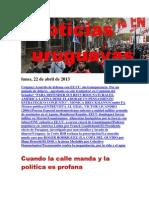 Noticias Uruguayas Lunes 22 de Abril Del 2013