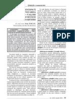 Cultura Stiintifica Si Comunicarea Stiintifica Valori Ale Societatii Cunoasterii