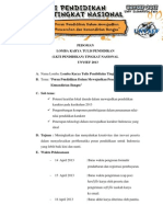 Pedoman Lomba Karya Tulis Pendidikan Nasional