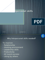 Interpersonal Skills and Personality Development- Session 4