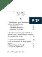 Test Initial Clasa a Ix