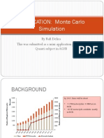 MBA REGIS Quanti MiniApplication of Monte Carlo