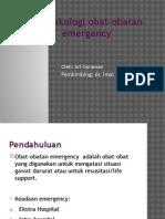 Farmakologi Obat-obatan Emergency