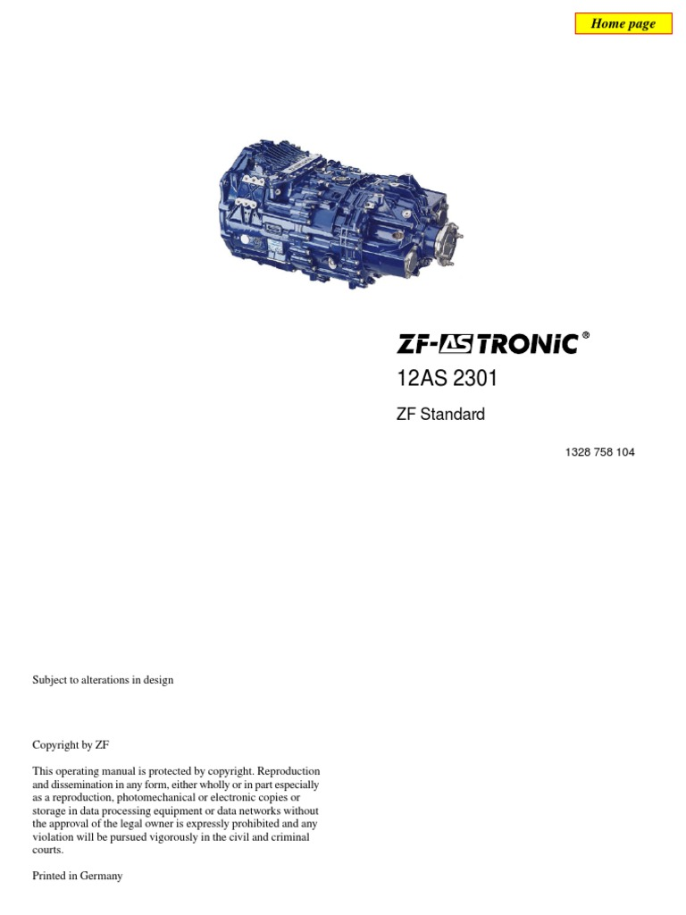 ZF as Tronic Operating Manual | Manual Transmission