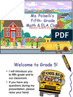 Grade 5 Open House PPT