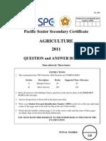 Agriculture Exam Paper