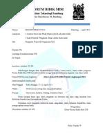 Format Surat Pengantar Lomba