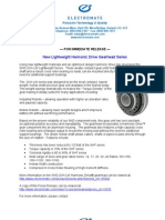 Harmonic Drive SHD-2UH-LW New Product Press Release