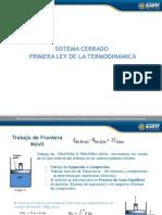 Sistema Cerrado y Primera Ley de La Termodinamica