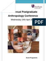 Durham University 6th Annual Postgraduate Anthropology Conference
