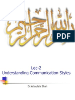 Lec-2-Communication Styles and Presentation Skills