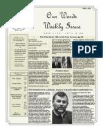 Newsletter Volume 5 Issue 16