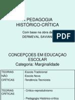 A pedagogia histórico-crítica