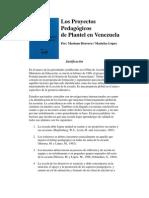 Los Proyectos Pedagógicos de Plantel en Venezuela