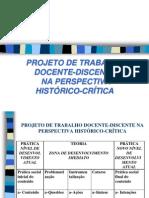 Projeto de trabalho docente-discente na perspectiva históri[1]