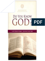 Do You Know God - LIFE Groups studies, Beginning Series