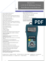 PIECAL 535 10-50mA 4-20 mA - V Calibrator Datasheet 535-9001 REV G