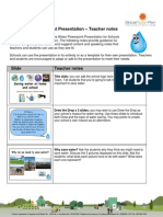 Save Water Powerpoint Presentation - Teacher Notes