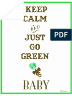 Keep Calm and Just Go Green - Dollhouse Paperie
