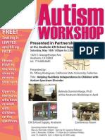Autism Workshop - 5/18