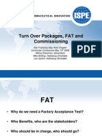 ISPE_SFCh - TurnOver Packages - FAT - Commissioning