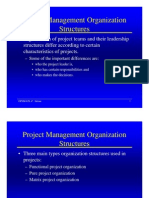 Project Management Organization Structures
