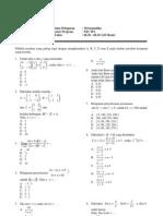 Latihan Ujian Matematika Pilihan ganda A