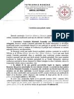 Comunicat Patriarhia Română 22 aprilie