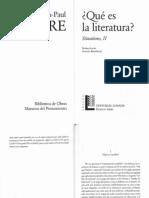 Sartre Que Es La Literatura