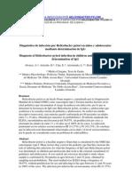 Prevalencia de La Infeccion Por Helicobacter Pylori